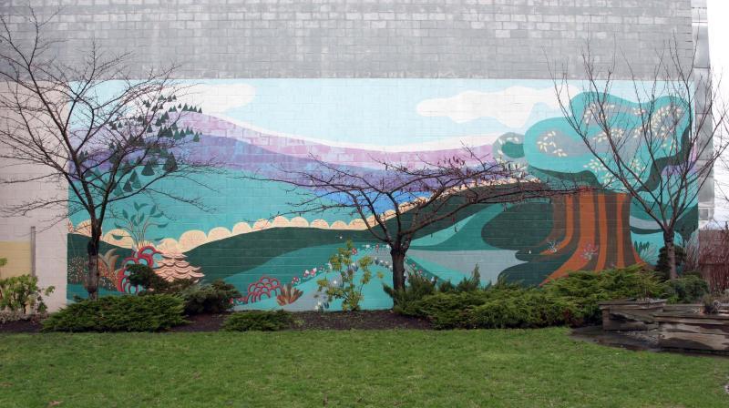 On Wall behind General Brock School
