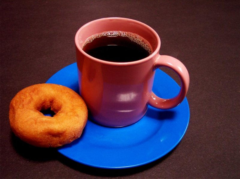 BEFORE:  Coffee And Doughnut