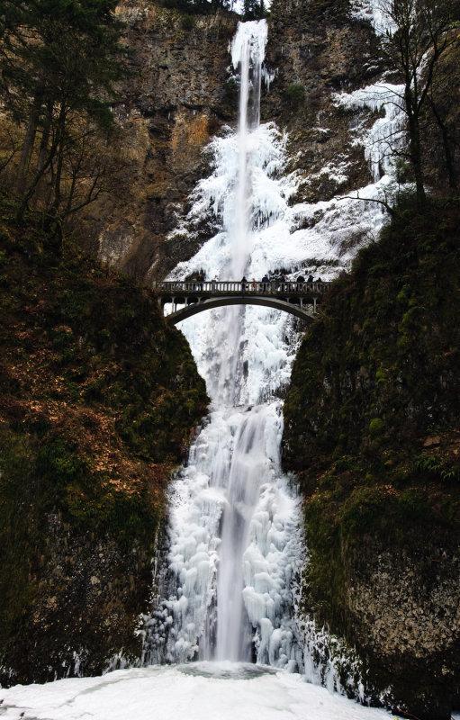 Multnomah Falls -- In the Ice