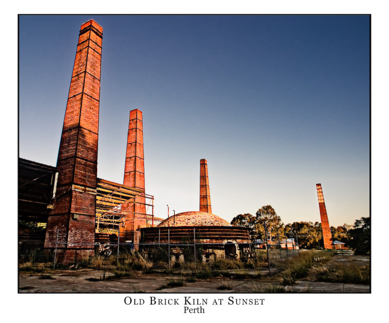 Old Brick Kilns at Sunset
