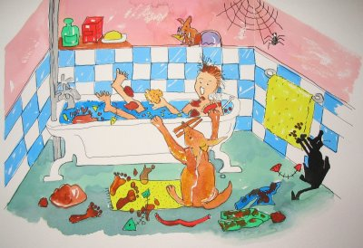 June in the bath (Dennis & June)
