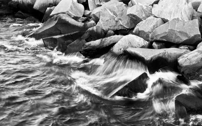 Rock and water (study #2), Chesapeake Bay, Virginia, 2010.jpg