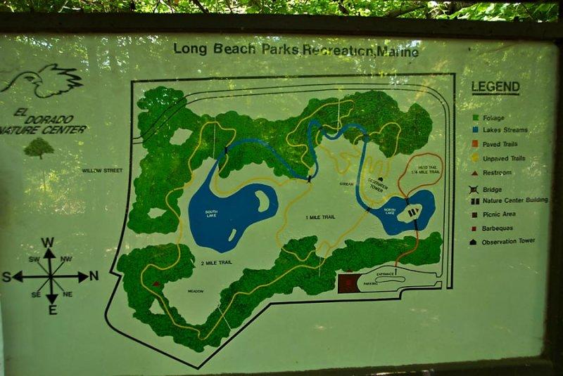 El Dorado Nature Center map