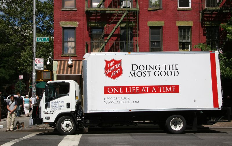 Salvation Army Truck at Avenue A & East 7th Street