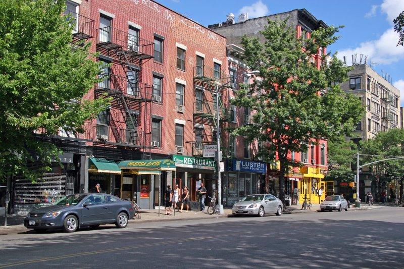 Avenue A Uptown View near East 7th Street