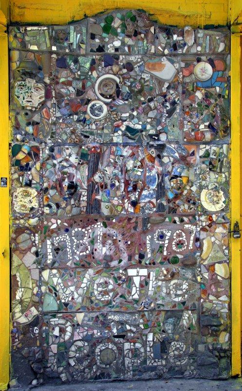 We the People Door Mosaic