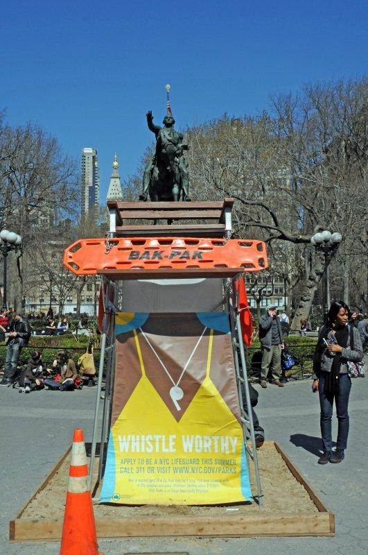 Square View at George Washington Statue