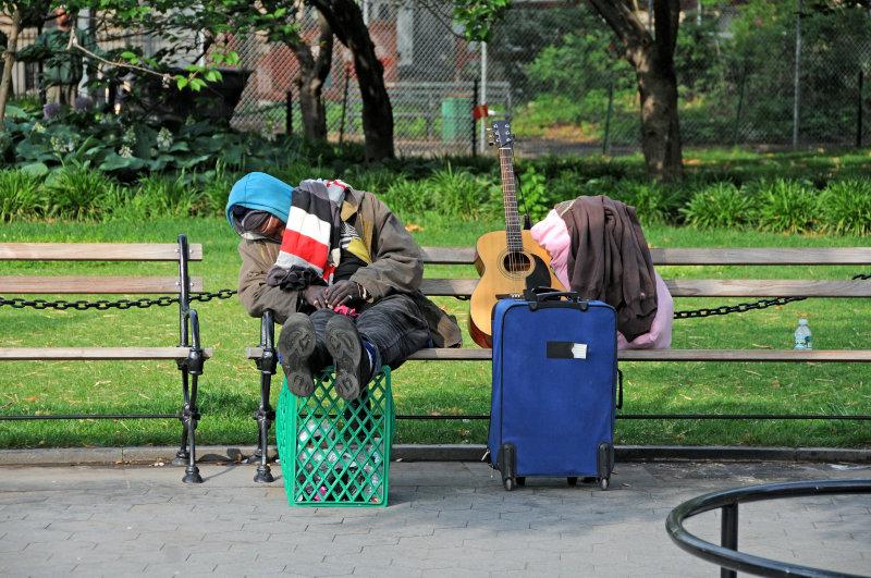 Musician Taking a Break