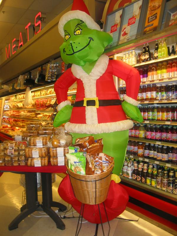 The Grinch at Morton-Williams Grocery Store