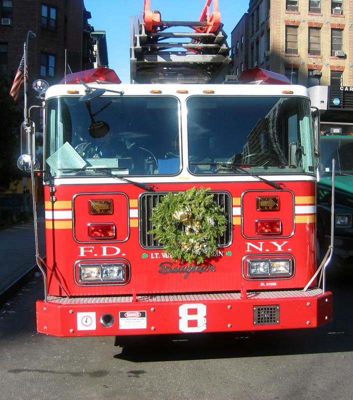 NY Fire Department Engine 8 Crew at Morton Williams Grocery Store