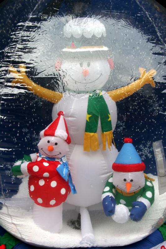 Snowman  Bubble Street Scene