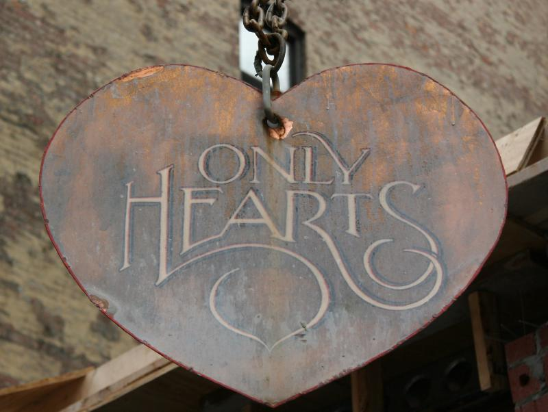 Only Hearts Shop Sign