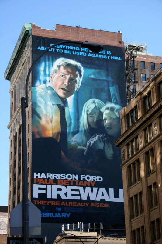 Harrison Ford Firewall Billboard