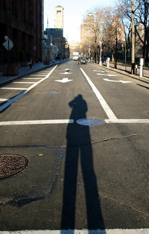 Self Portrait at Washington Square South & East - West View