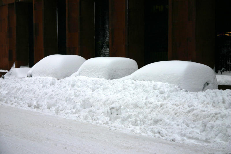 Blizzard of 06 - Buried Cars by NYU Library