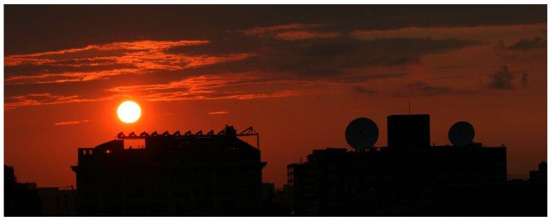 Sunset & Satellite Dishes
