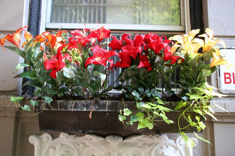 Silk Lilies Window Box