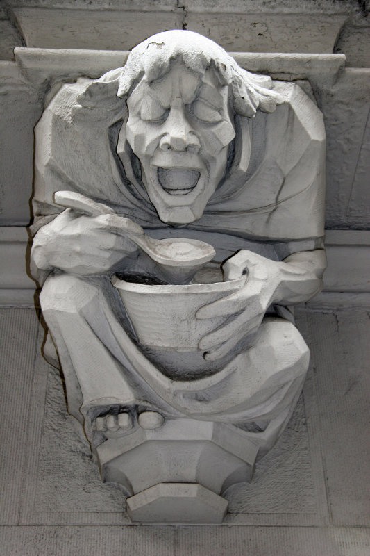 Thanksgiving Meal - Gargoyle at an Apartment House Residence