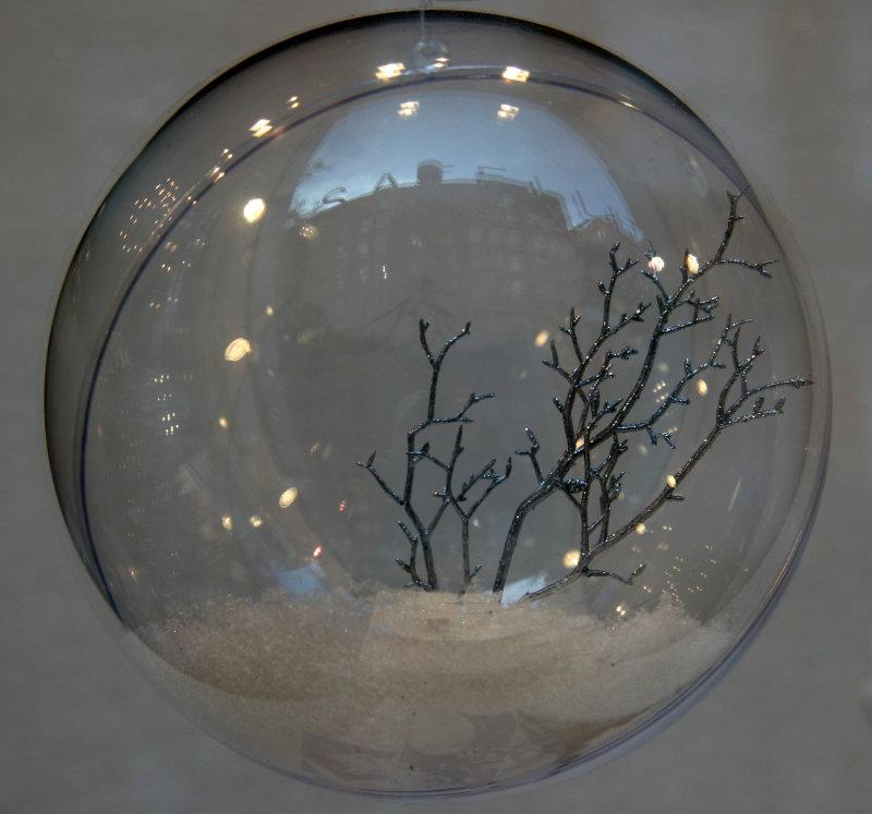 Glass Ball - Winter Scence with SOHO Skyline Reflection