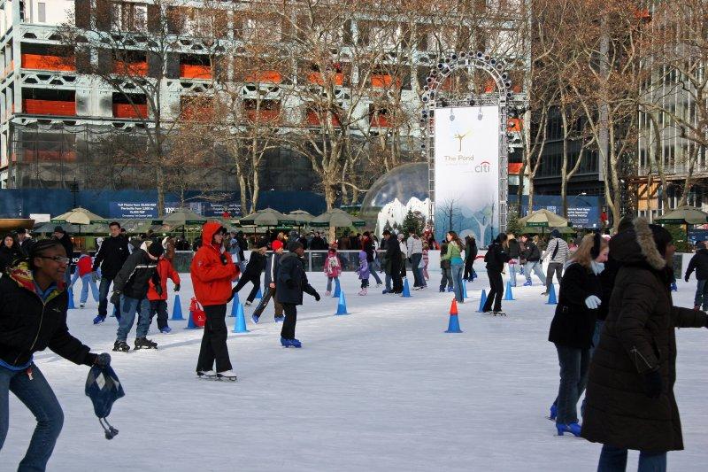 Bryant Park Ice Skating Pond