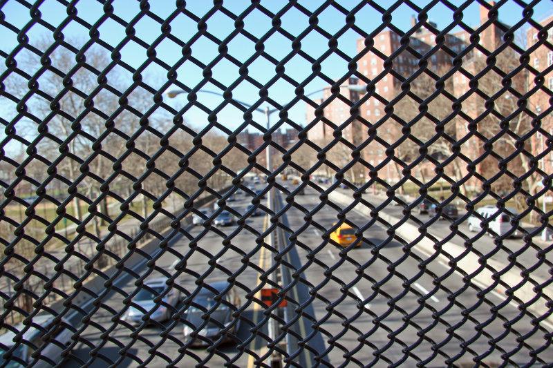 FDR Drive Pedestrian Overpass View