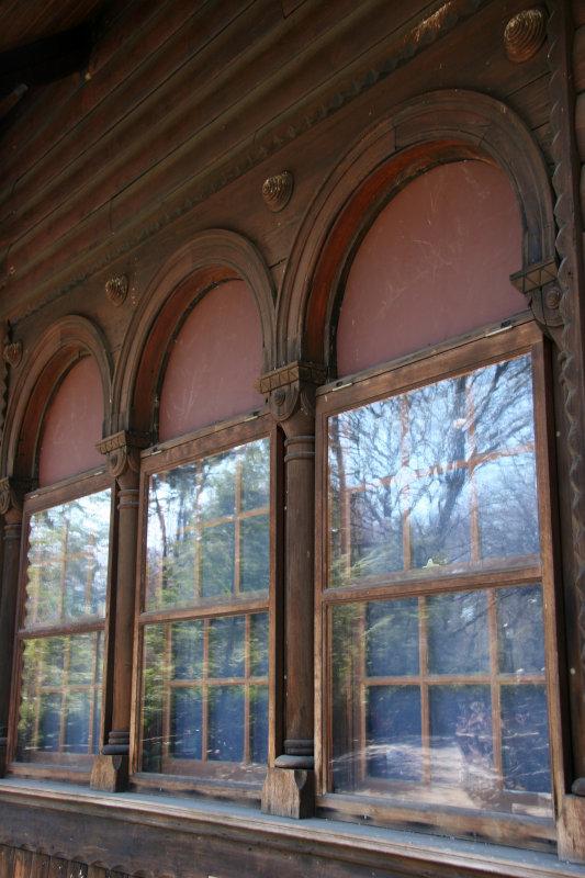 Swedish Cottage Window Reflections