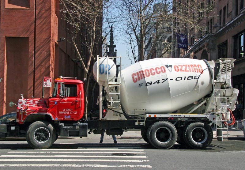 Cement Truck at NYU Library Lane