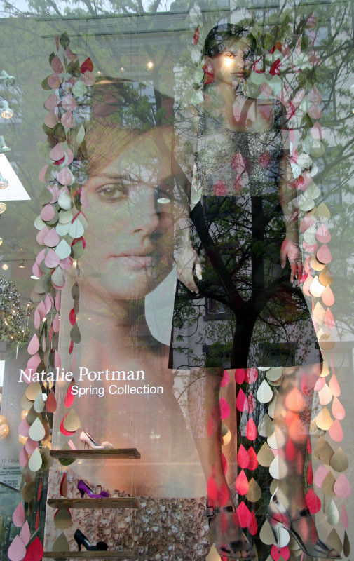 Natalie Portman Spring Collection Window with Reflections