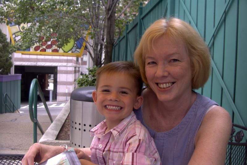 Julie on the Cape with Will