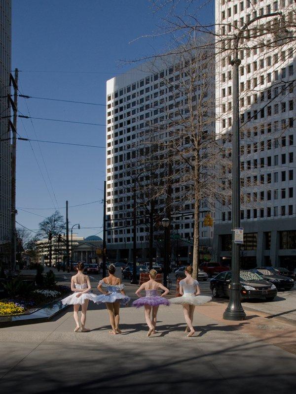 Ballerinas on Peachtree Street
