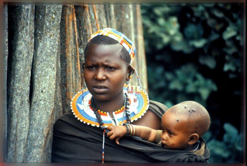 Maasai mother, Tanzania
