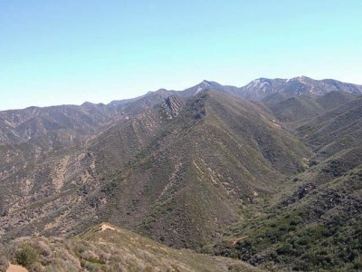 Topa at Right and Trail to Rose Valley