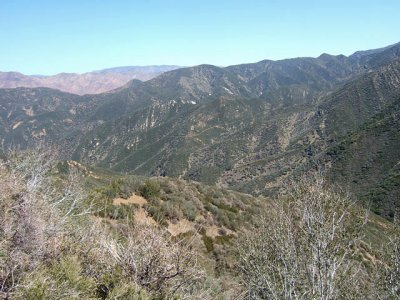 Lower Part of the Trail from Topa to Rose Valley