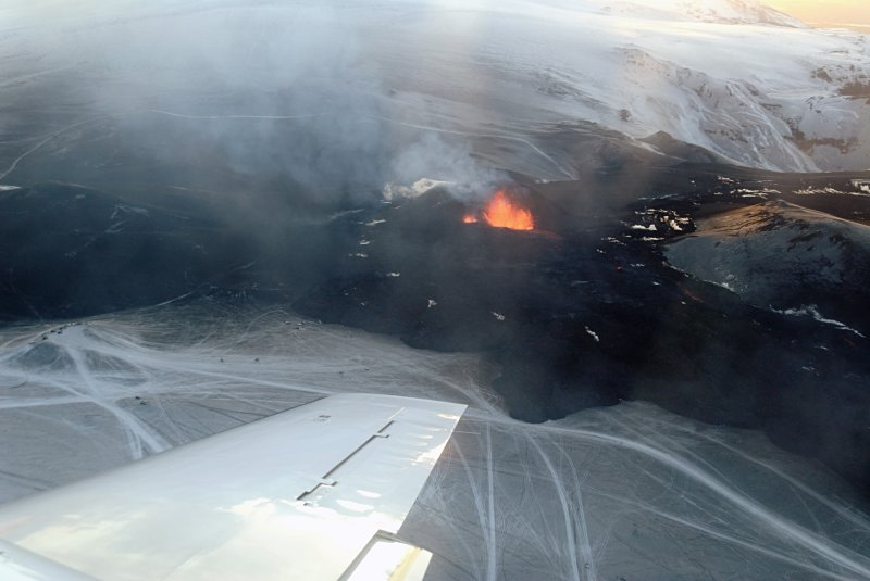 Eruption from the air