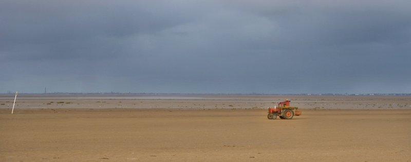 Bad weather over Blackpool
