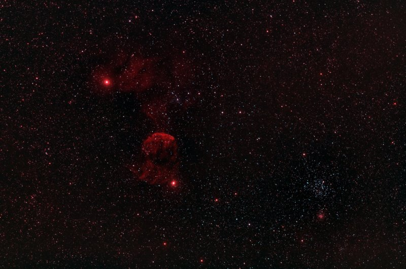 The Jellyfish and Friends (IC443, IC 444 and CR89, M35, NGC2158, IC2157) - 3000 pixels