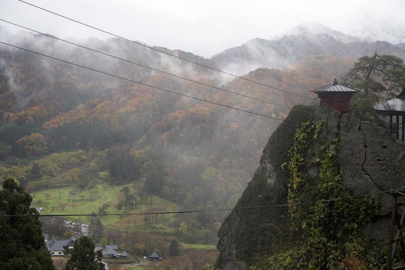 Yamadera in the rain