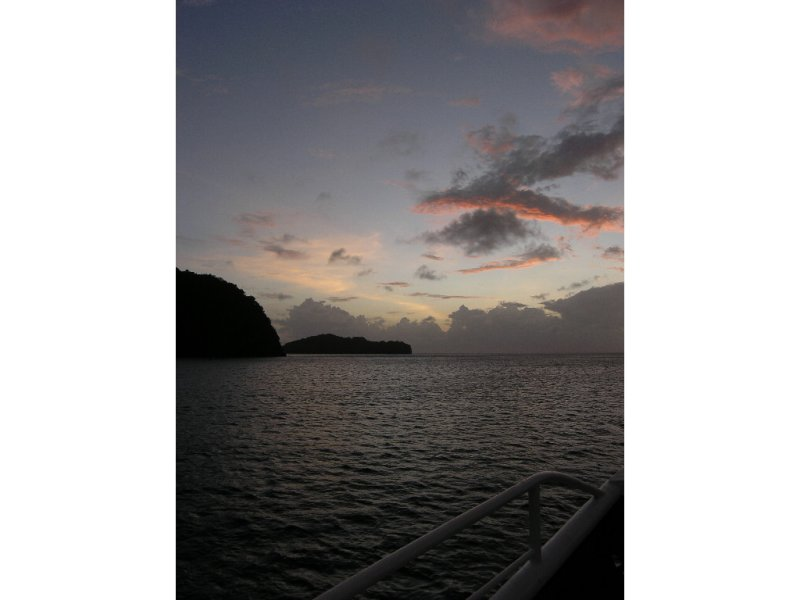 Sunset over Pigeon Island, Tobago Cays