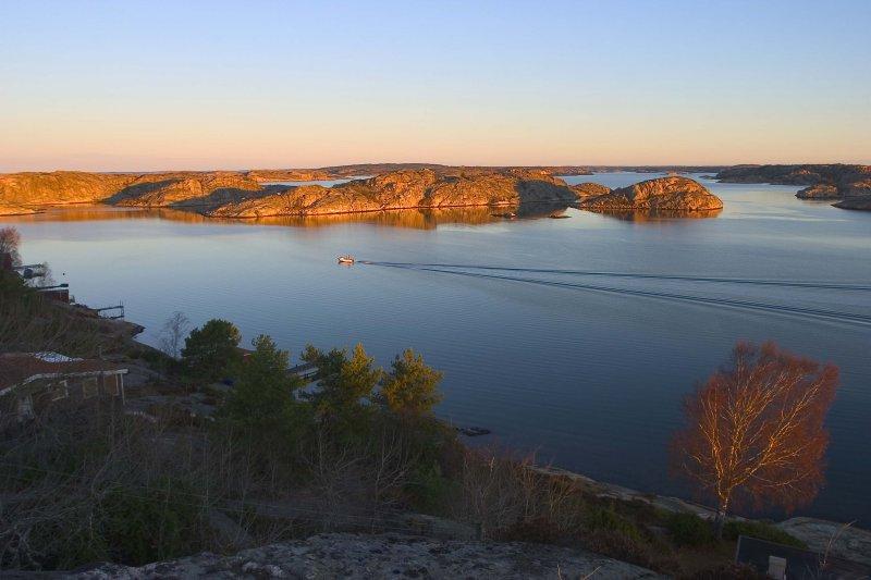 Fishing boat at dawn