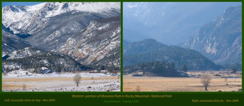 Western portion of Moraine Park in Rocky Mountain National Park - two days in November