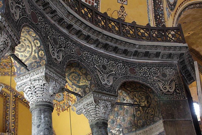 A part inside Hagia Sophia