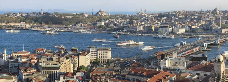 Panorama-View from Galata Tower