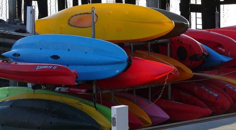 Kayaks in Morning Light
