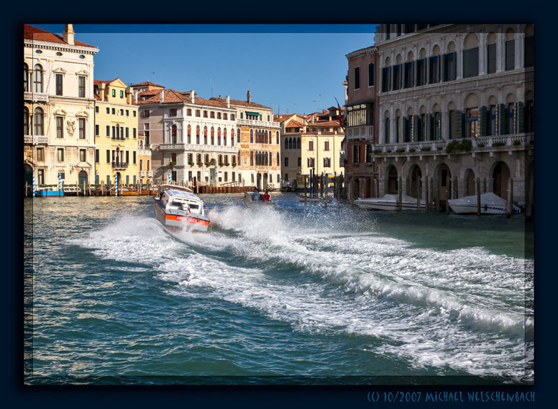 Speeding on the Canale Grande