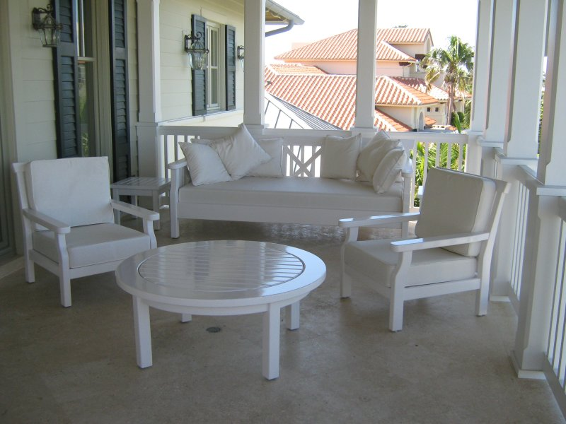 Manalapan Day Bed, Club Chairs and 48 Table