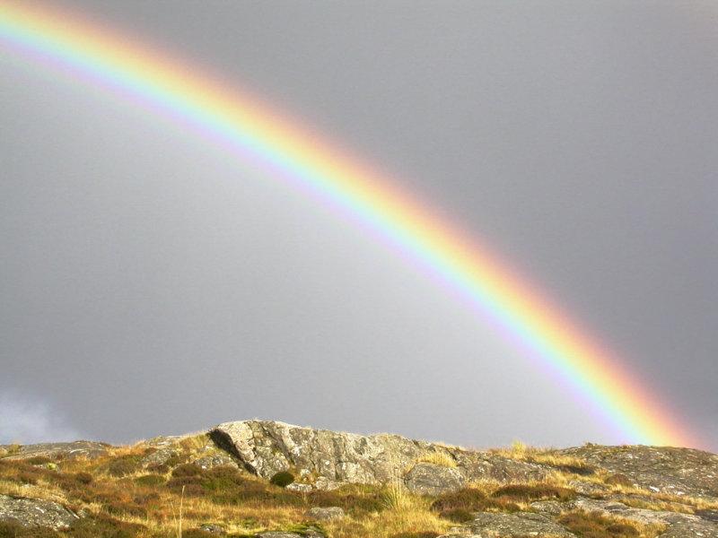 rainbow from just north of Tairbeart (Tarbert)