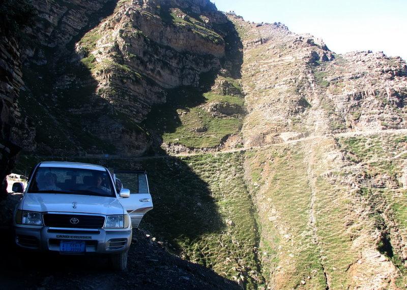 Narrow road to aAacia woodland