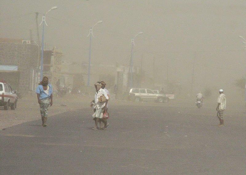 Sand storm Al Mukha