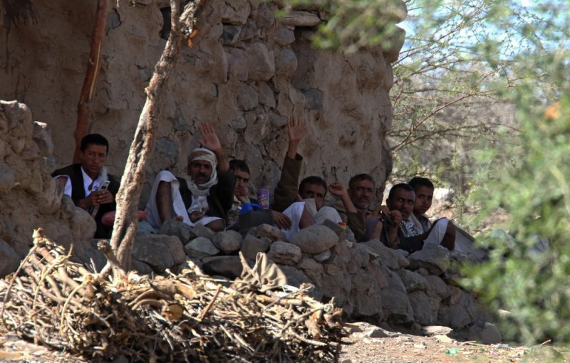 Local men Hamam Gearref
