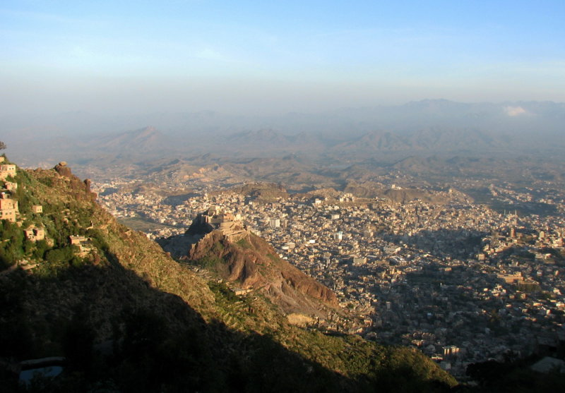 Taizz view from Jabal Saber